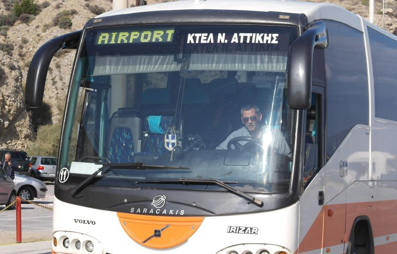 The bus from Rafina to Airport