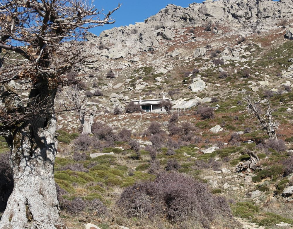 The refuge on mount Ochi, Evia island