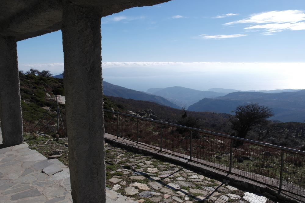 the views from the refuge of Ochi, Evia Island